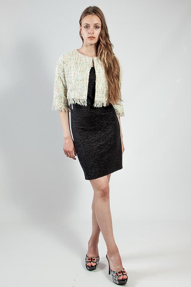 Платье женское вечернее черное короткое ONLY