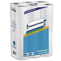 Полотенце бумажное Marathon 32661100 белый Standart 2-х слойн. 12,5 м. 12 рул.