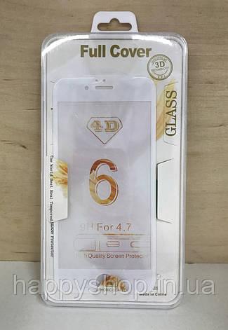 Захисне 3D скло для iPhone 6/6S (White), фото 2