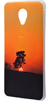 Чехол для Meizu M5 IMD с рисунком дерево на закате