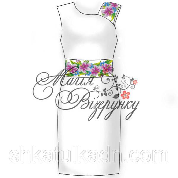 Заготовка під вишивку жіночого плаття без рукава