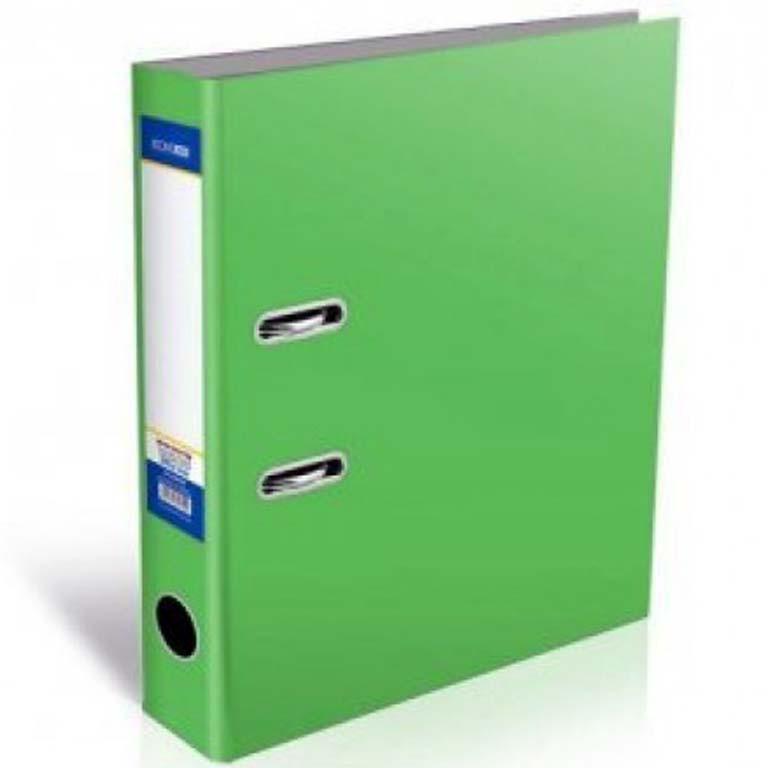 Регистратор А5 Economix 30724-04 зеленый А5 80мм ламин 1стр покр.РVC, мет.након