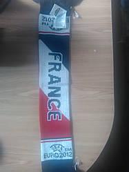 Футбольний шарф France Euro 2012 на липучках сувенірний 10х60 см