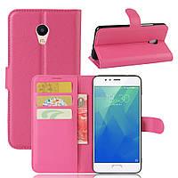 Чехол Meizu M5S книжка PU-Кожа розовый, фото 1
