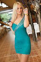 Платье№АТ4 бирюза (ГЛ), фото 1