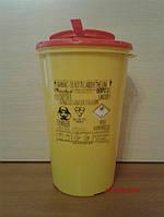 Одноразовый контейнер для утилизации медицинских отходов 2л.