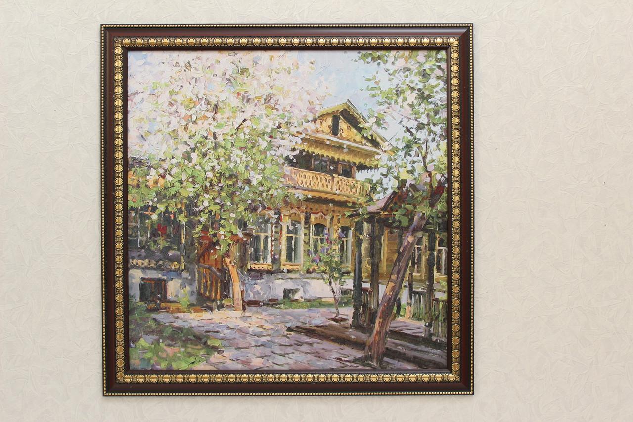 """Картина """"Цветущий дворик"""""""