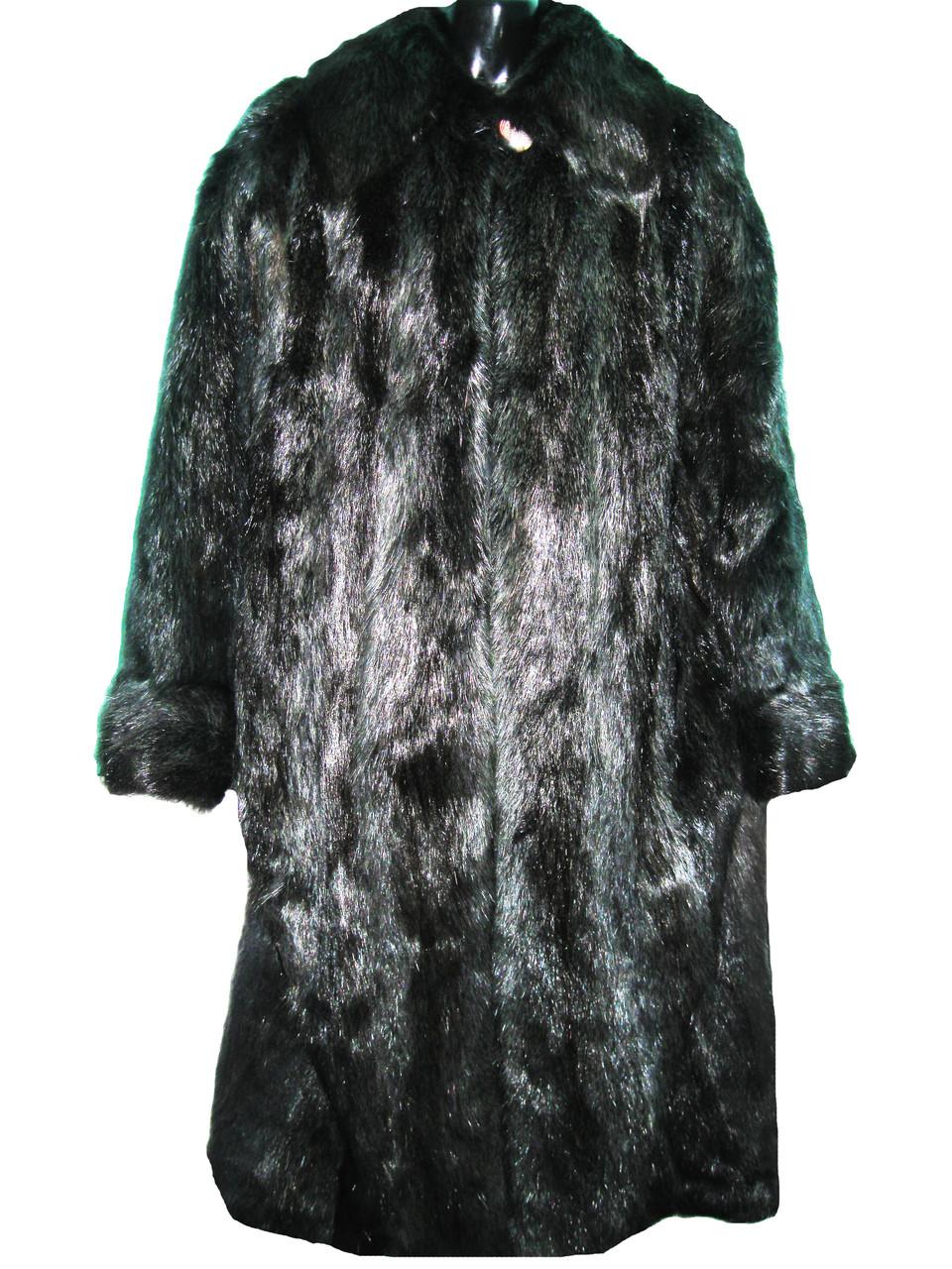 Шуба женская натуральная (мех нутрии), размер XL, арт. Ш-05