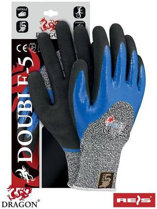 Защитные рукавицы, выполненные из смеси стекловолокна и пряжи UHMWPE DOUBLE-5 WBNB, фото 2