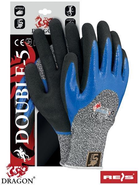 Защитные рукавицы, выполненные из смеси стекловолокна и пряжи UHMWPE DOUBLE-5 WBNB