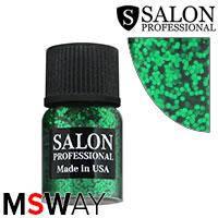 Salon Prof. Блестки в баночке - Зеленые 07 круглые темные изумруд насыщенные, фото 2