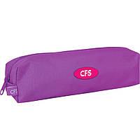 "Пенал CF16 CF85532 малиновый ""Fashion Rubine"", 21х5х5 см, рипстоп, 1 отделение на молнии"