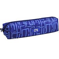 "Пенал CF16 CF85546 синий ""Maze"", 21х5х5 см, рипстоп, 1 отделение на молнии"