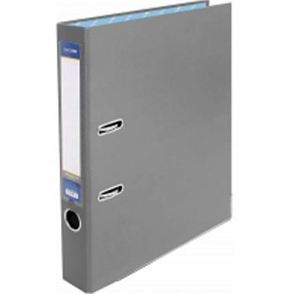 Регистратор А4 Economix 39720-10 серый 50мм 2сторонее покрытие ПВХ, мет.окантовка (сборная)                                                          , фото 2