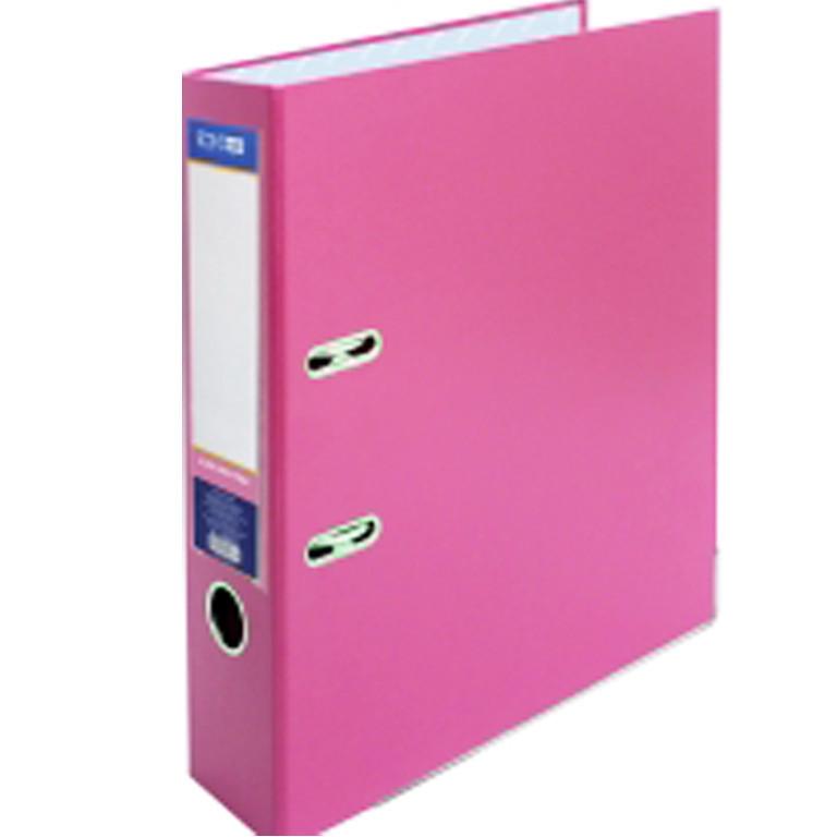 Регистратор А4 Economix 39721-09 розовый 70мм 2сторонее покрiтие ПВХ, мет.окантовка (сборная)