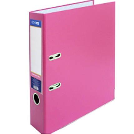 Регистратор А4 Economix 39721-09 розовый 70мм 2сторонее покрiтие ПВХ, мет.окантовка (сборная)                                                        , фото 2