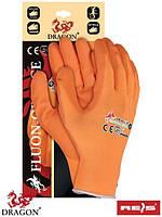 Защитные перчатки из нейлона FLUON-ORANGE PP