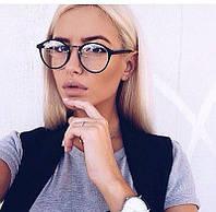 Имиджевые ретро очки с прозрачными стеклами