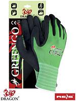 Защитные рукавицы, выполненные из нейлона с примесью лайкры, покрытые латексом GREENGO ZB