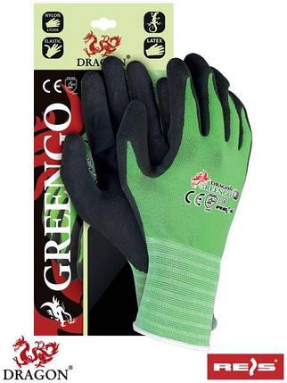 Защитные рукавицы, выполненные из нейлона с примесью лайкры, покрытые латексом GREENGO ZB, фото 2