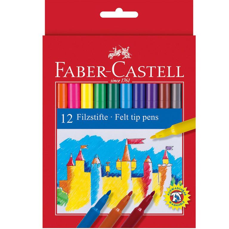 "Фломастеры Faber_Castell 554212 12цветов блистер ""Fibre-tip"""