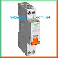 Дифавтомат АД63К 1П+Н 20A 30MA C 18мм Schneider Electric