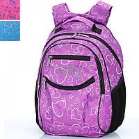 Рюкзак Dolly16 502 черно-фиолетов размер 30x40x22 см, спинка ортопедическая