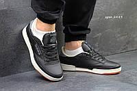 Мужские кроссовки Reebok Workout Plus R12, черно белые / бег кроссовки мужские Рибок Воркаут Плюс Р12