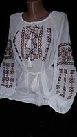 Блуза из шифона с этнической вышивкой