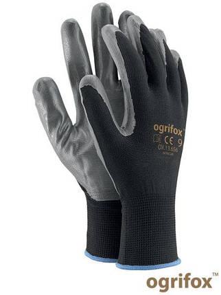 Перчатки защитные, изготовленные из полиэстера, покрытые нитрилом OX-NITRICAR BS, фото 2