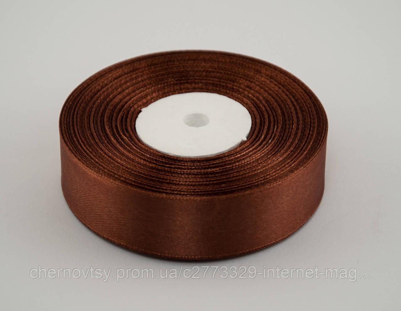 Лента атлас 1.2 см, 33 м, № 31 светло коричневая