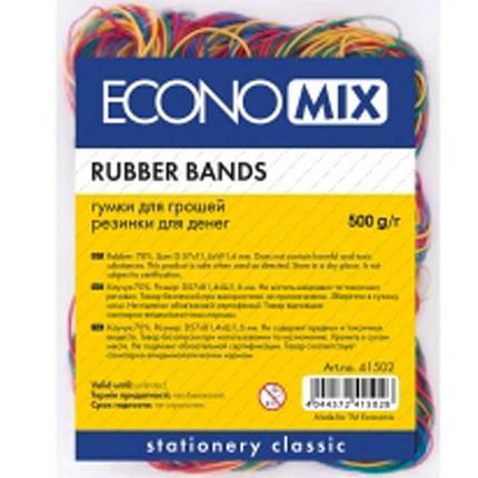 Резинки для купюр Economix E41502 микс 500гр, D48мм                                                                                                   , фото 2