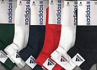 ORIGINAL Носки женские спортивные х/б с сеткой Adidas, Италия, ароматизированные, ассорти, 10079