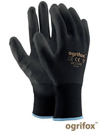 Перчатки рабочие Ogrifox покрытые полиуретаном OX-POLIUR WW, фото 2