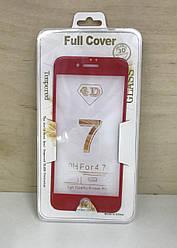 Защитное 3D стекло для iPhone 7 (Red)