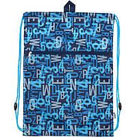 Сумка для обуви Kite17 K17-601M-9 синий 601 Alphabet с карманом