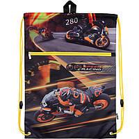 Сумка для обуви Kite17 K17-601M-1 черный 601 Speed racing с карманом