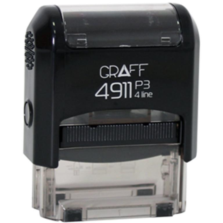 """Оснастка для печатей и штампов Graff 4911-29 синий Оснастка 38х14мм """"Отримано"""" укр."""