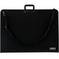 Портфели Buromax 3729-01 черный А1 (89х64,4см), пластиковый, Professional