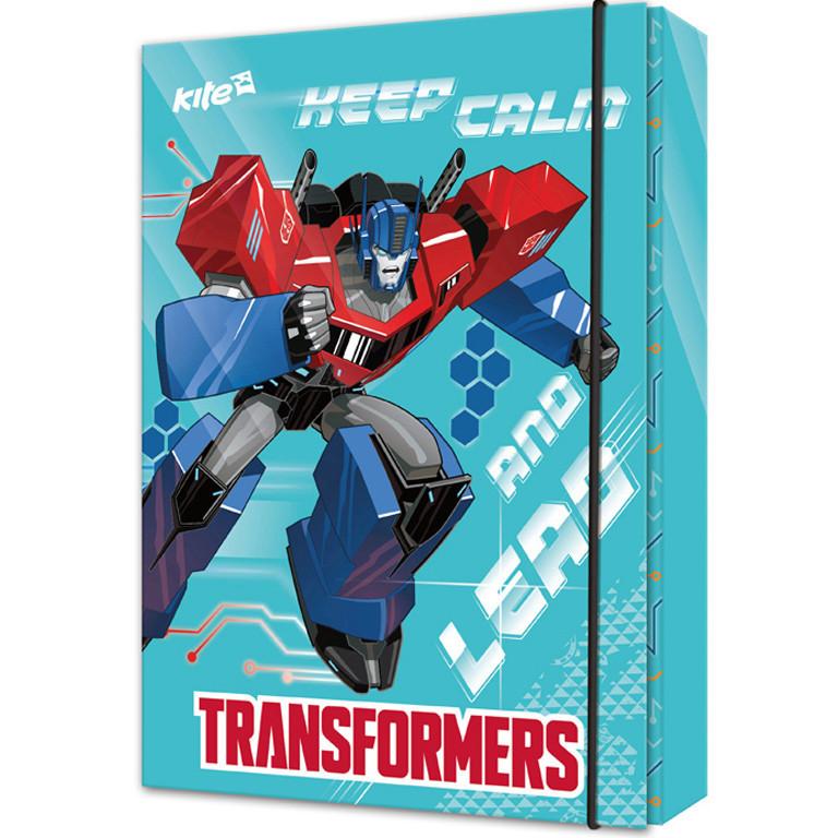 "Папка для тетрадей Kite TF17-210 B5 картон на резинке ""Transformer"""