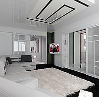 Дизайн проект гостиной, Гостиная 23