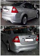 Юбка на задний бампер под покраску на Ford Focus 2004-2011 хэтчбек
