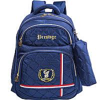 """Ранец CF17 CF86016 синий 41х31х16см """"Prestige"""", Blue, 400,полиэстер,ортоп. сп., 1отд. на молнии+2 кармана, регул. лямки, жосткое  дно"""