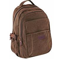 Рюкзак Cabinet17 O97387 коричневый анатомическая спинка, эргономичные лямки, боковые карманы, Laptop-карман
