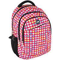 Рюкзак CF17 CF85859 розовый 44х32х15 см, полиэстер, Laptop-карман, ортопедическая спинка, эргономичные лямки, 3 отделения,боковые карманы