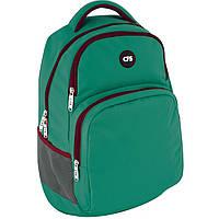 Рюкзак CF17 CF85871 зеленый полиэстер, Laptop-карман, ортопедическая спинка, эргономичные лямки,боковые карманы