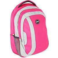 Рюкзак CF17 CF85865 розовый полиэстер, Laptop-карман, ортопедическая спинка, эргономичные лямки,боковые карманы