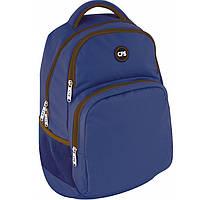 Рюкзак CF17 CF85870 синий полиэстер, Laptop-карман, ортопедическая спинка, эргономичные лямки,боковые карманы