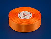 Лента атлас 1.2 см, 33 м, № 151 светло оранжевая