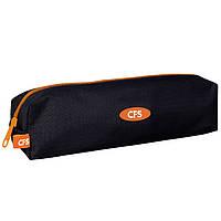 """Пенал CF17 CF85526-01 черно-оранжевы 21х5х5см, """"Classic Orange"""", рипстоп, 1 отделение на молнии"""